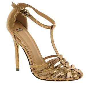 ASOS Hyla Gold/Copper Strappy Heeled Sandals 39